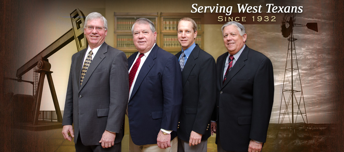 Gossett, Harrison, Millican, & Stipanovic, PC Law Firm Partners - Serving West Texans Since 1932